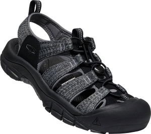 KEEN MENS NEWPORT H2 BLACK/STEEL GREY SANDAL