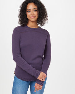 TEN TREE LADIES FOREVER AFTER AUBERGINE PURPLE SWEATER