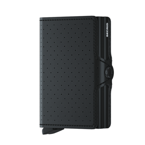 SECRID TWINWALLET PERFORATED BLACK