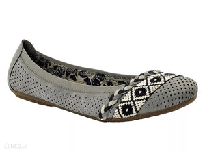 RIEKER LADIES 41468-41 GREY FLAT