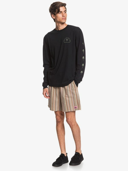 QUIKSILVER MENS BLIND ALLEY BLACK LS TSHIRT