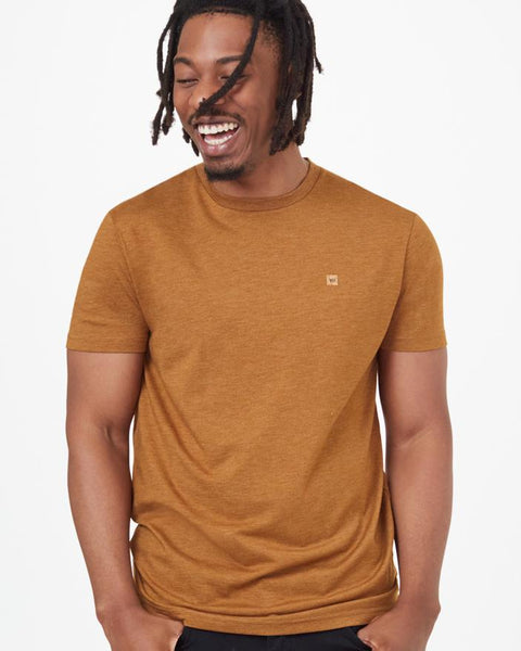TEN TREE MENS TREEBLEND CLASSIC RUBBER BROWN HEATHER TSHIRT