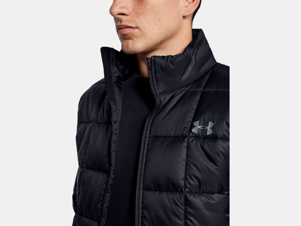 UNDER ARMOUR MENS ARMOUR INSULATED BLACK JACKET