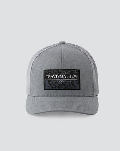 TRAVIS MATHEW MENS SCUBA CERTIFIED HEATHER GREY SNAPBACK HAT