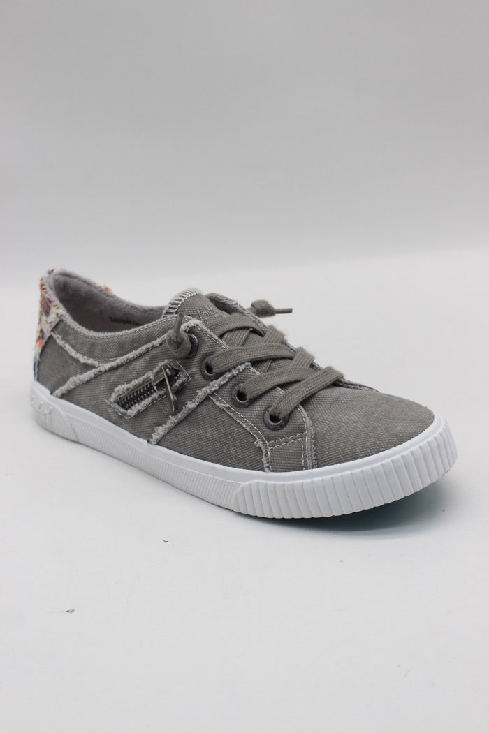 BLOWFISH LADIES FRUIT WOLFGREY SMOKED CANVAS/NATURAL DIEGO WEAVE SHOE