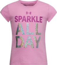 UNDER ARMOUR TODDLER GIRLS SPARKLE ALL DAY ICELANDIC ROSE TSHIRT