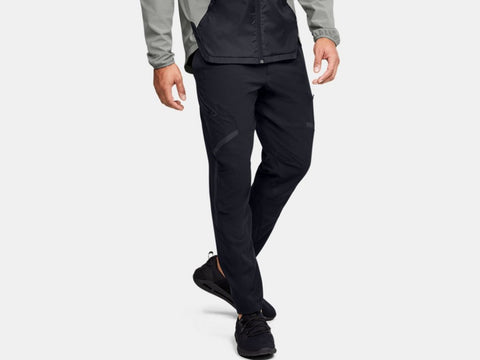 UNDER ARMOUR MENS UNSTOPPABLE BLACK CARGO PANTS