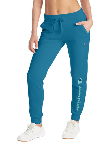 CHAMPION LADIES POWERBLEND GRAPHIC ROCKIN TEAL JOGGER