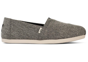 TOMS LADIES CLASSIC BLACK HEATHERED SHOE