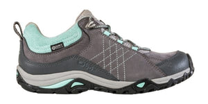 OBOZ LADIES SAPPHIRE LOW WTPF CHARCOAL/BEACH GLASS SHOE
