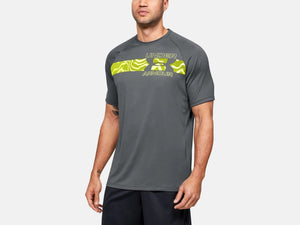 UNDER ARMOUR MENS TECH 2.0 PITCH GREY TSHIRT