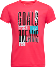 UNDER ARMOUR TODDLER GIRLS GOALS AND DREAMS PINKADELIC TSHIRT
