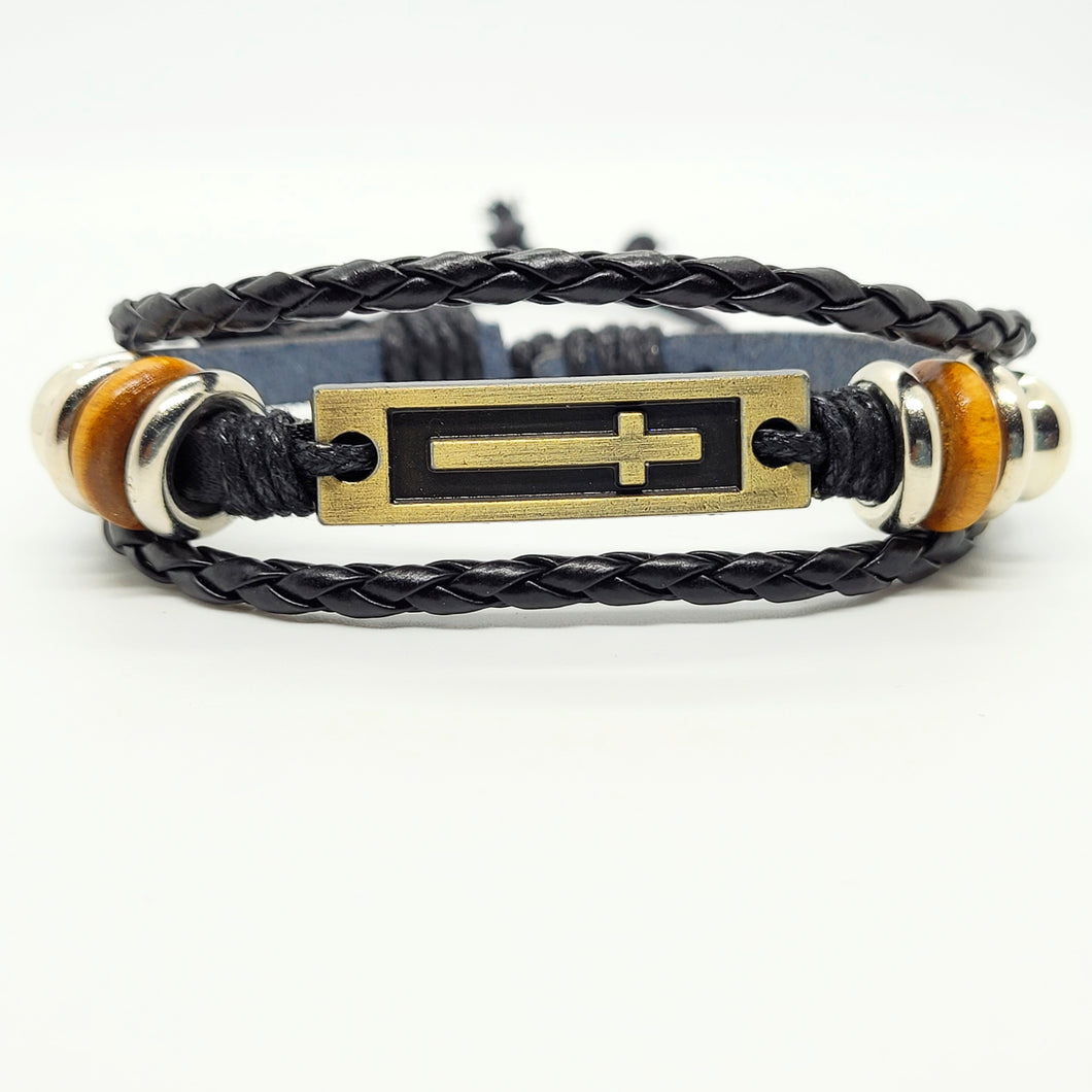 Adjustable Trible Leather Charm Bracelet