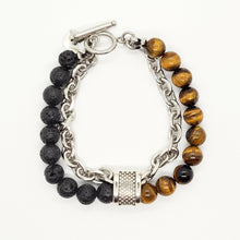 Load image into Gallery viewer, Cable Link Double Bead Bracelet