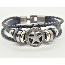 Load image into Gallery viewer, Triple Leather Charm Bracelet