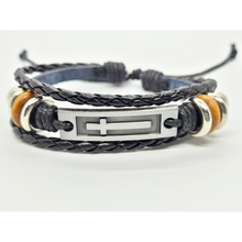 Load image into Gallery viewer, Adjustable Trible Leather Charm Bracelet