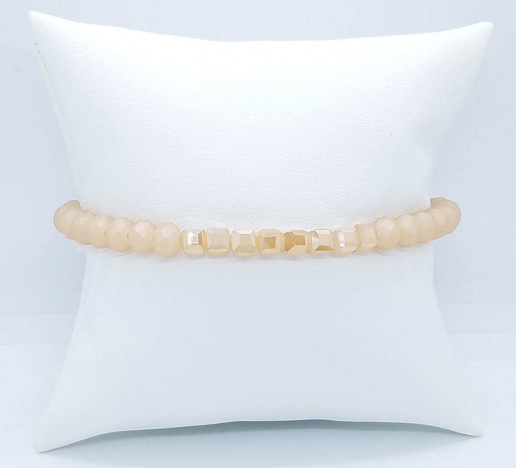 High Polished & Matte Peach Stack Bracelet
