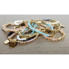 Load image into Gallery viewer, Gold Accented Crystal Stack Bracelets