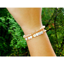 Load image into Gallery viewer, High Polished & Matte Peach Stack Bracelet