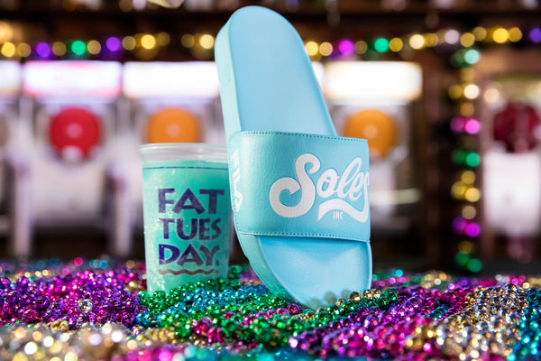 "FILA x Soles Inc. ""Fat Tuesday"" Drifter Slide (Blue)"