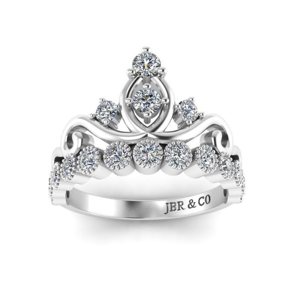 Dainty Princess Crown S925 Tiara Ring