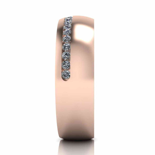Channel Design Sterling Silver Women's Band