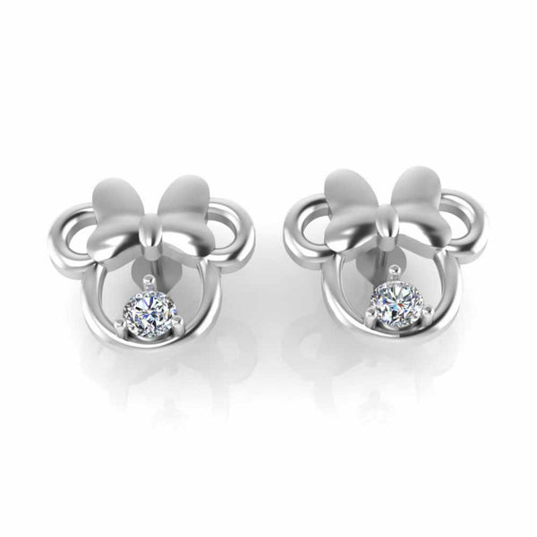 Child's Twinkle Minnie Mouse Stud S925 Earrings