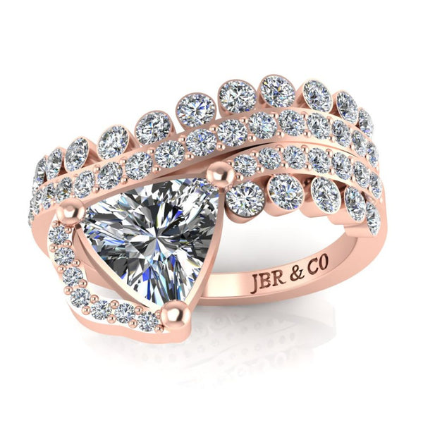 JBR Classic Three Row sterling Silver Wedding Band