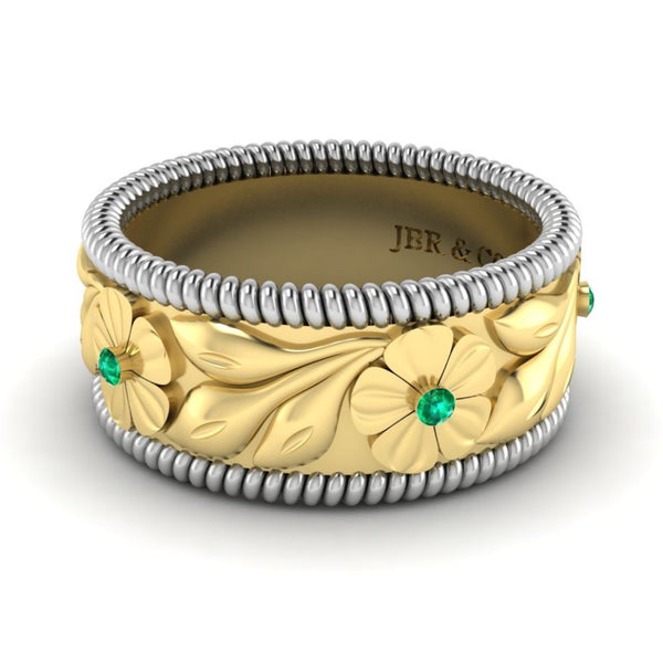 JBR Two Tone Embossed Leaf Women's Band