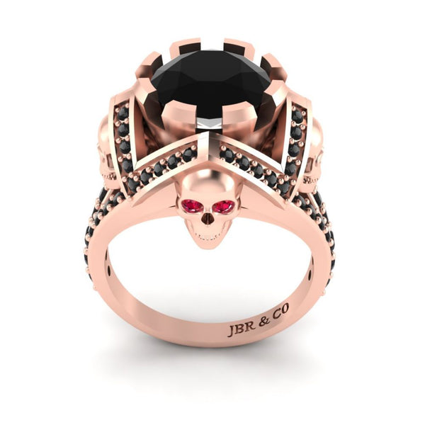JBR Skull and Holy Cross Ring In Sterling Silver For Womens