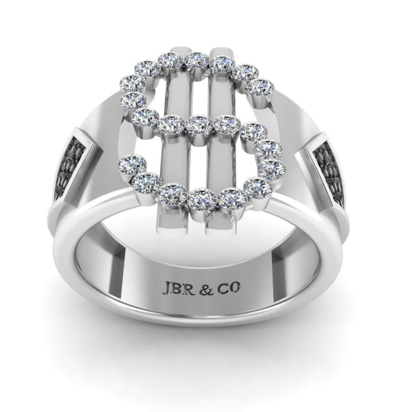 JBR Dollar Bezel Set Sterling Silver Cocktail Ring