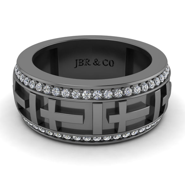 JBR Jesus Cros Inspired Sterling Silver Men's Band