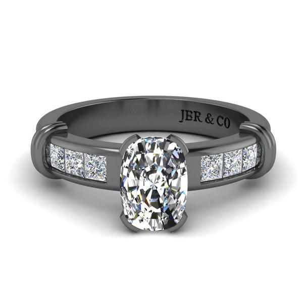 JBR Simple Oval Cut Sterling Silver Eternity Ring
