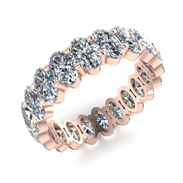 JBR Classic Oval Cut Sterling Silver Eternity Band for Women