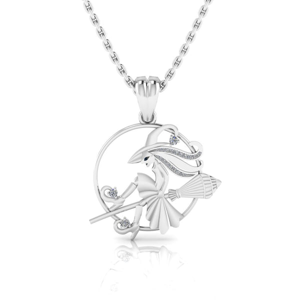 JBR Fisherman Pendant Sterling Silver Necklace For Teen And Women