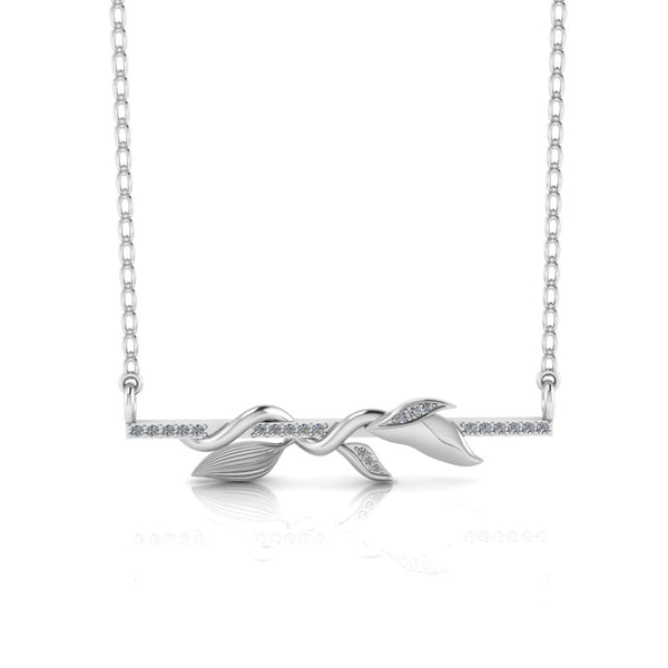 "JBR ""The Klimplant Bar"" Sterling Silver Necklace"
