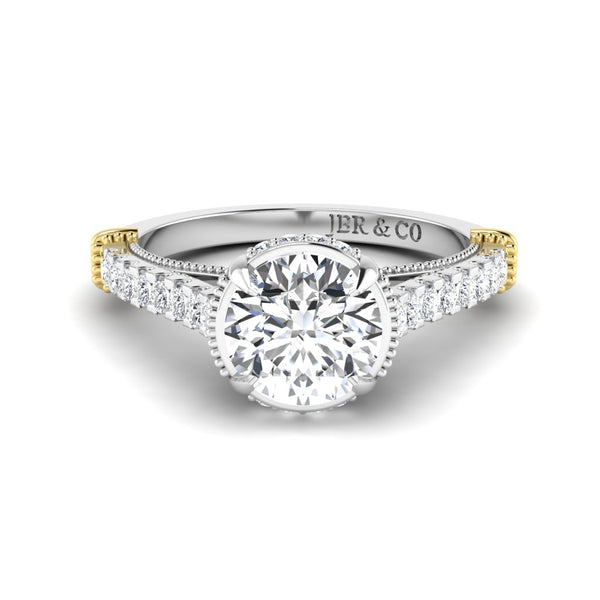 JBR Solitaire 1.30CT Round Cut Sterling Silver Wedding Ring