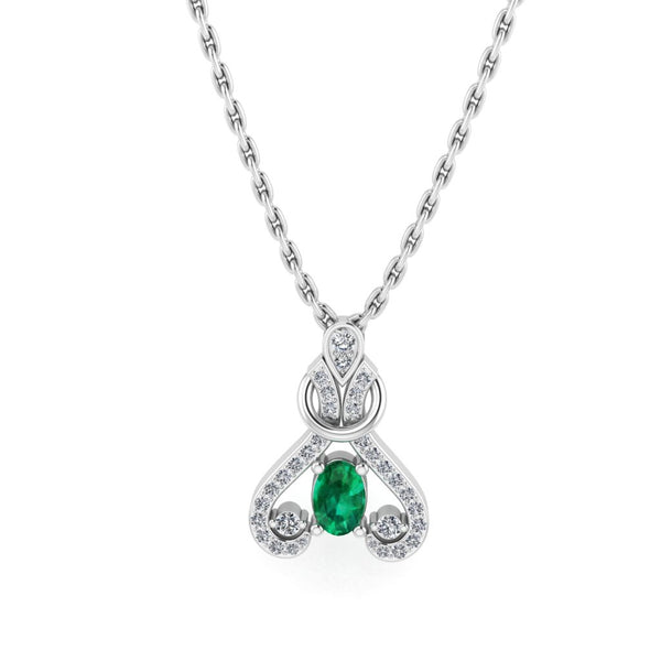 JBR Cinderella Dream Round Cut Diamond Sterling Silver Necklace