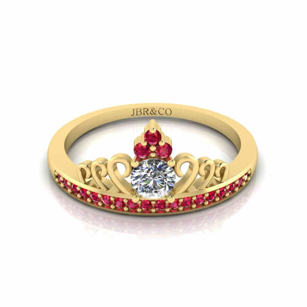 Princess Crown Tiara Ring Sterling Silver