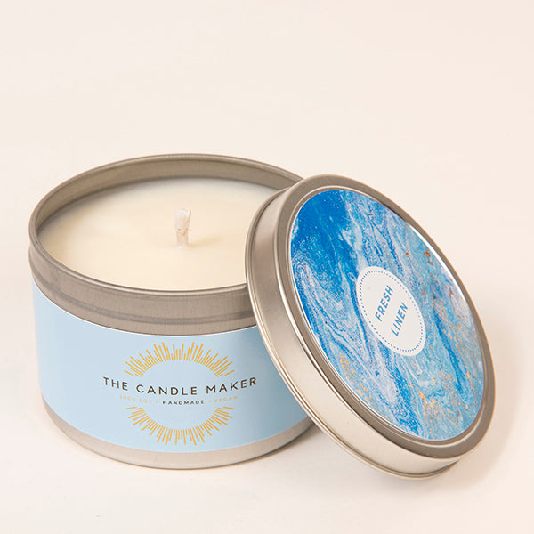 fresh linen soy wax candle