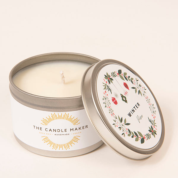 winter pine soy wax candle