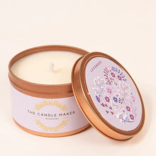 Load image into Gallery viewer, lavender gold soy wax candle