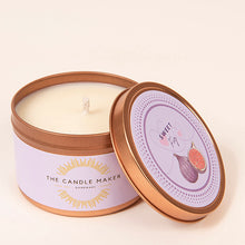Load image into Gallery viewer, sweet fig gold soy wax candle
