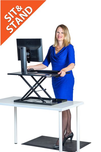 The Switch Sit/Stand Standing Desk by Stand Steady is the simple, affordable and balanced choice for people who want to incorporate standing into their work day.