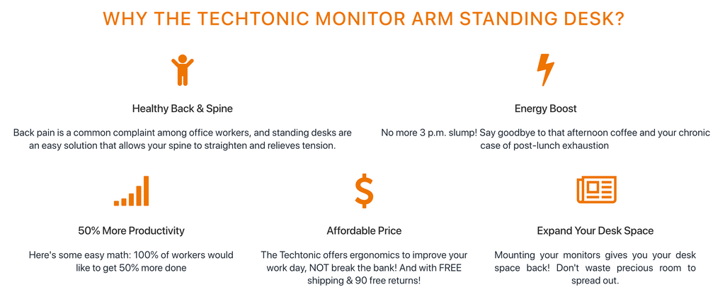 Techtonic Standing Desk Benefits