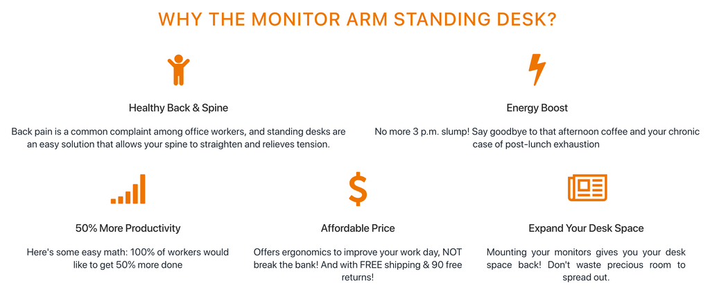Monitor Arm Standing Desk Benefits