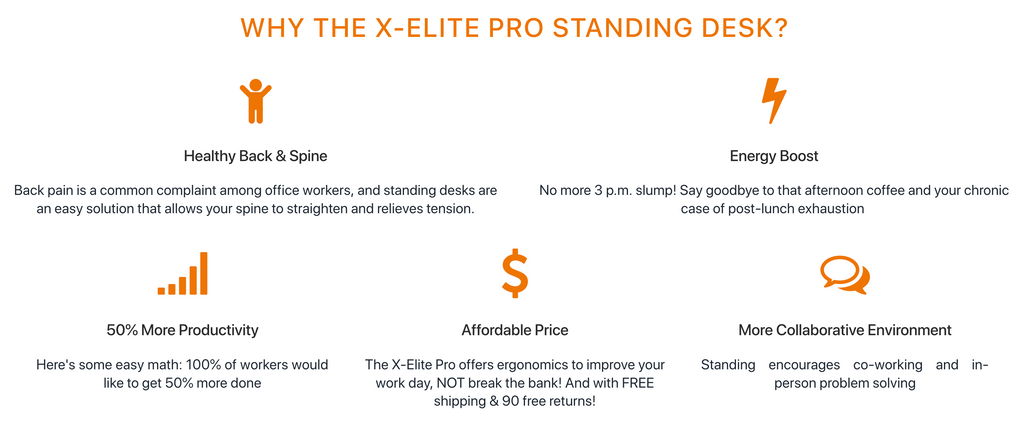 X-Elite Pro Corner Standing Desk Benefits
