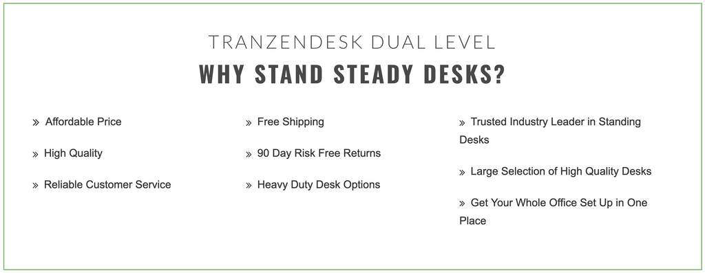 Tranzendesk Manual Crank Sit Stand Desk why buy Stand Steady Standing Desks?