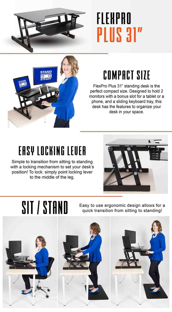 FlexPro Plus Affordable Standing Desk by Stand Steady