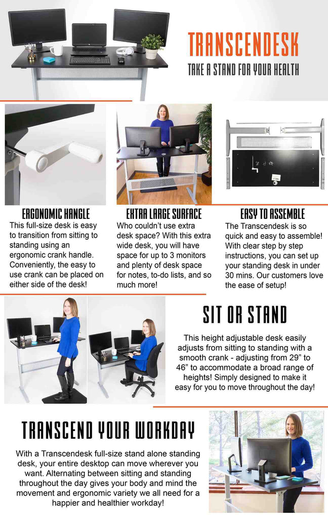 Transcendesk Standing Desk by Stand Steady